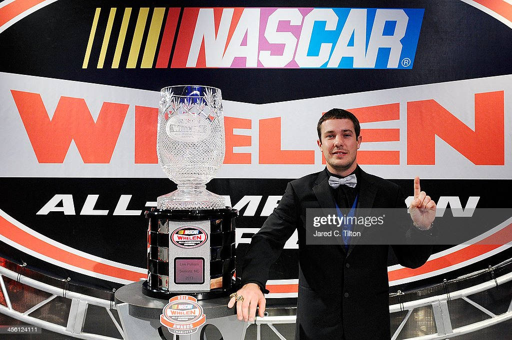 Lee Pullian, NASCAR All-American Series National Champion, poses for a photo opportunity after the NASCAR All-American Series Awards at Charlotte Convention Center on December 13, 2013 in Charlotte, North Carolina.