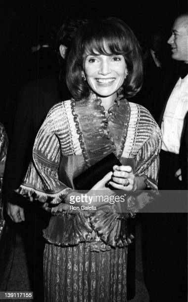 Lee Radziwell attends Metropolitan Museum of Art Costume Institute Exhibit 'American Woman With Style' on December 10 1975 at the Metropolitan Museum...