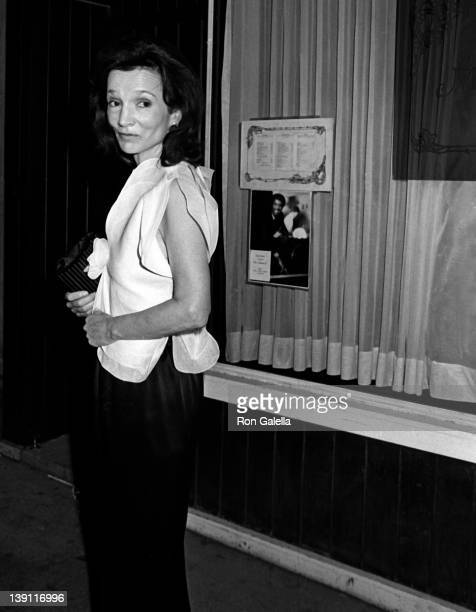 Lee Radziwell attends Swifty Lazar Party for Billy Wilder on May 6 1982 at Mortimer's Restaurant in New York City