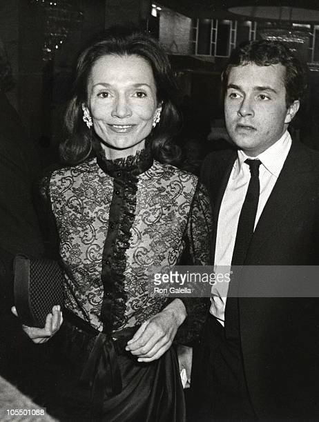 Lee Radziwill and Anthony Radziwill during Opening of 'Lunch Hour' at Barrymore Theatre in New York City New York United States
