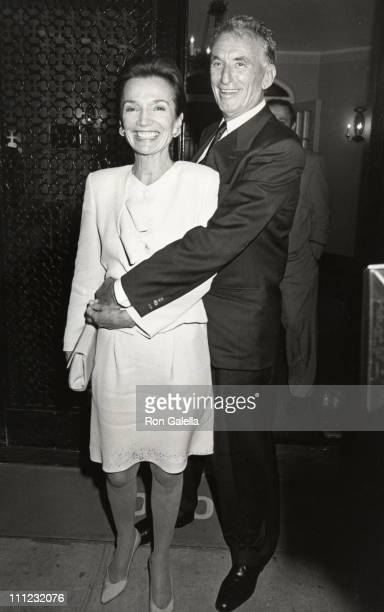 Lee Radziwill and Herb Ross during Dinner Reception for the Wedding of Lee Radziwill and Herb Ross at Jackie Kennedy Onassis' 5th Avenue Apartment in...