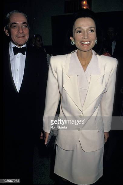 Lee Radziwill and Kenneth J Lane during 'Harlem's Children' Benefit at The Storefront School in New York City New York United States