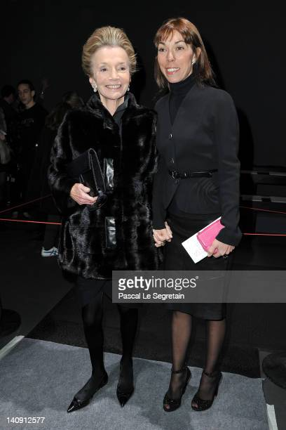 Lee Radziwill and Victoire de Castellane attend the Giambattista Valli ReadyToWear Fall/Winter 2012 show as part of Paris Fashion Week on March 5...