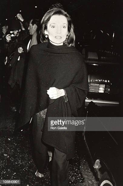 Lee Radziwill during Opening Night of 'Social Security' at Barrymore Theater in New York City New York United States