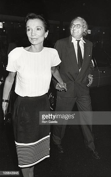 Lee Radziwill Richard Meier during Premiere of 'Heartburn' at Lowe's Tower East in New York City New York United States