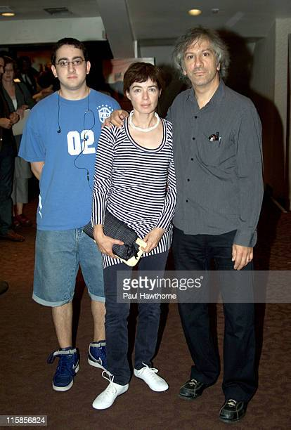 Lee Ranaldo of Sonic Youth right with his son Cody and Leah Singer