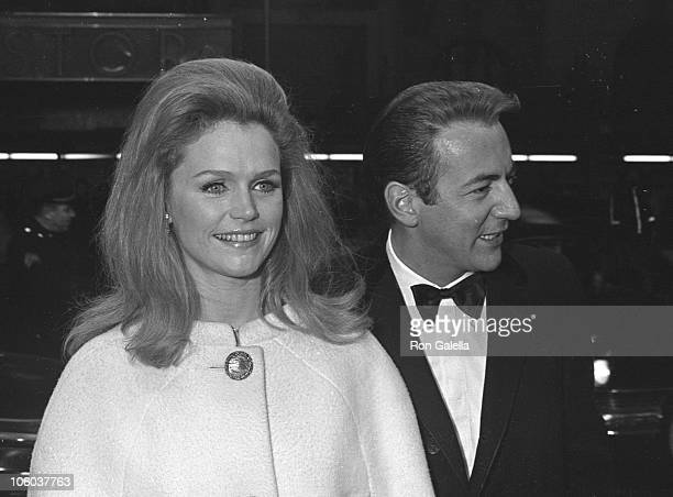 Lee Remick and Bobby Darin during 'Thouroughly Modern Millie' Premiere March 21 1967 at Criterian Theater in New York City New York United States