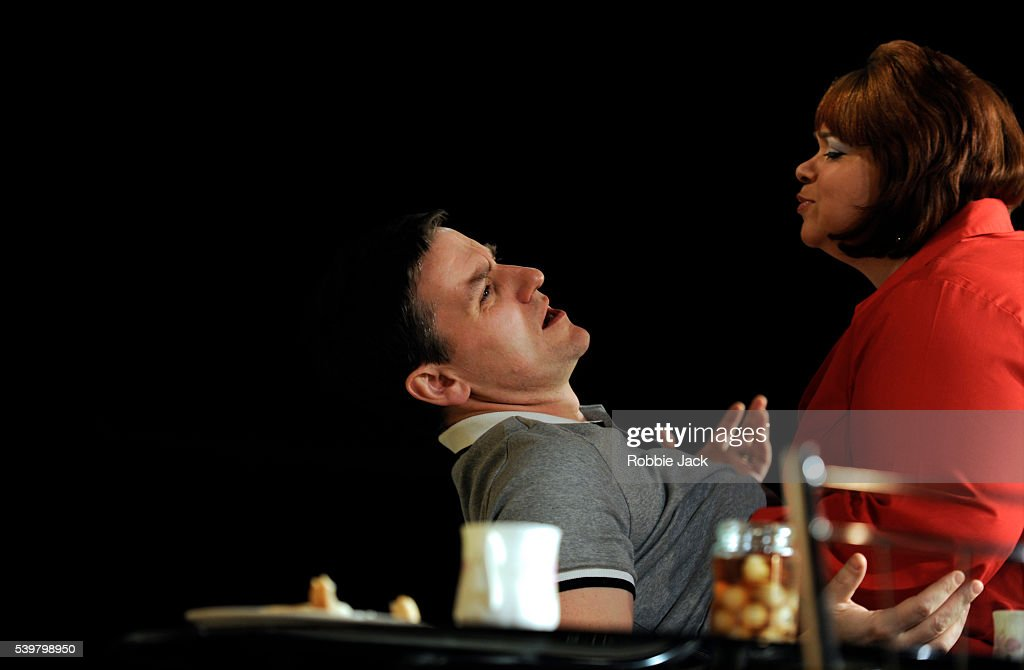 Lee Ross as Barry and Debbie Chazen as Jackie in David Eldridge's In Basildon directed by Dominic Cooke at the Royal Court in London