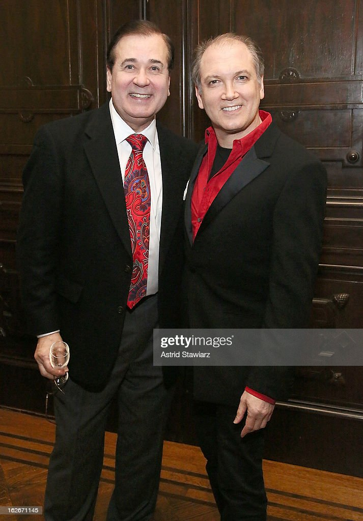 Lee Roy Reams and Charles Busch attend the 10th Annual Love 'N' Courage Benefit For TNC's Emerging Playwrights Program at The National Arts Club on February 25, 2013 in New York City.