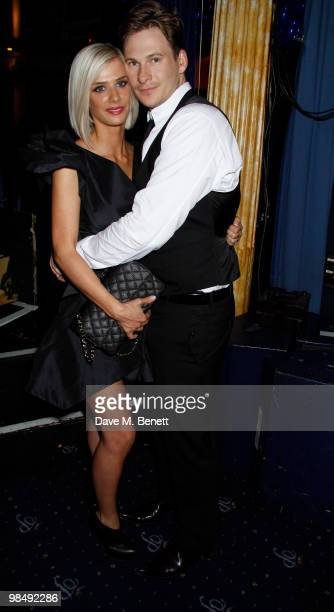 Lee Ryan and Samantha Millar attend the 'Heavy Film Premiere Party' at the cafe De Paris London England on April 15 2010