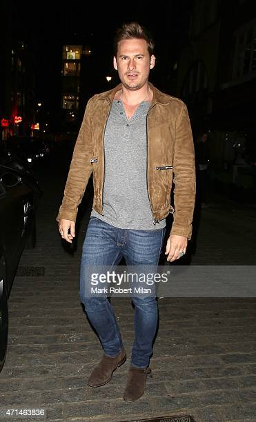 Lee Ryan attending the Hot Gossip launch party at Gigi's on April 28 2015 in London England