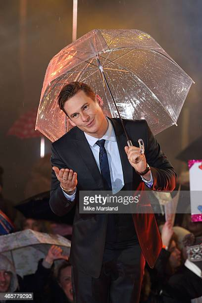 Lee Ryan attends the Celebrity Big Brother final at Elstree Studios on January 29 2014 in Borehamwood England
