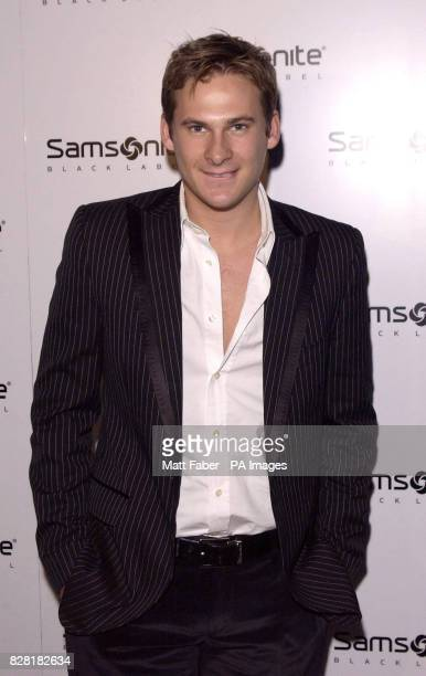 Lee Ryan attends the Samsonite Premium Black Collection launch party at The Gymnasium St Pancras central London Thursday 20 October 2005 PRESS...