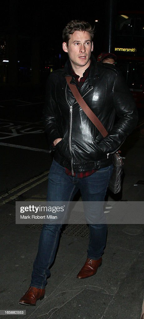 Lee Ryan dines at Buddha Bar on April 6, 2013 in London, England.