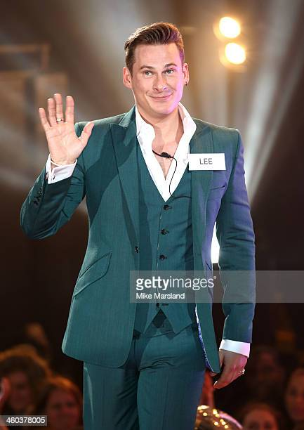 Lee Ryan enters the Celebrity Big Brother House at Elstree Studios on January 3 2014 in Borehamwood England