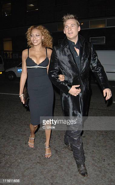 Lee Ryan from Blue with guest during Versace Store Relaunch Party After Party Dinner at Lcanda Locate Restaurant in London Great Britain