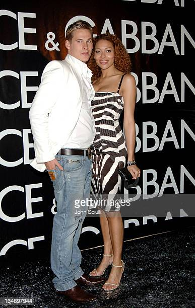 Lee Ryan of Blue and Aret Komlosy during 2005 Cannes Film Festival Dolce Gabbana Party at VIP Room in Cannes France