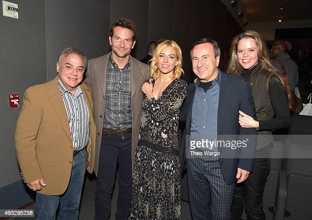 Lee Schrager Bradley Cooper Sienna Miller Daniel Boulud and Katherine Gage attend the Private Screening Of BURNT QA Panel And Reception With Bradley...