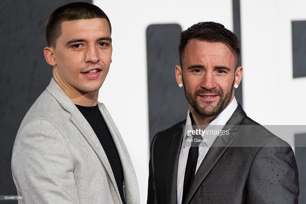 Lee Selby and Lee Haskins attend the European Premiere of 'Creed' at the Empire cinema Leicester Square on January 12 2016 in London England