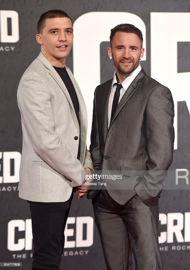 Lee Selby and Lee Haskins attend the European Premiere of 'Creed' on January 12 2016 in London England