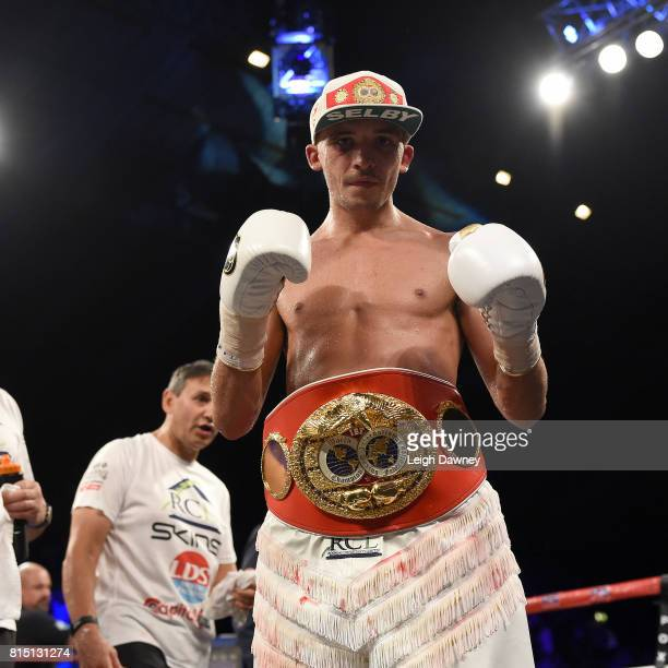 Lee Selby defeats Jonathan Victor Barros and claims the IBF World Featherweight title at Wembley Arena on July 15 2017 in London England