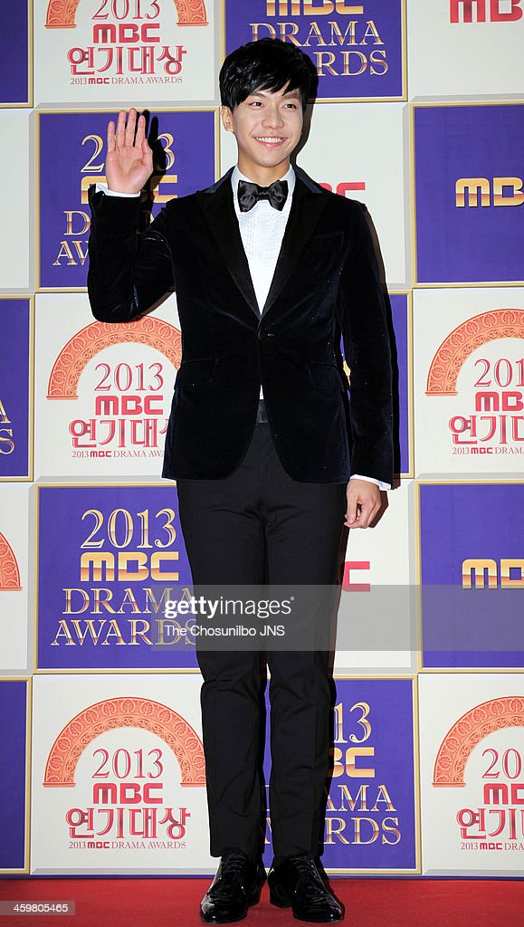 <a gi-track='captionPersonalityLinkClicked' href=/galleries/search?phrase=Lee+Seung-Gi+-+Actor&family=editorial&specificpeople=7414427 ng-click='$event.stopPropagation()'>Lee Seung-Gi</a> arrives at the red carpet of the 2013 MBC drama awards at MBC Open hall on December 30, 2013 in Seoul, South Korea.