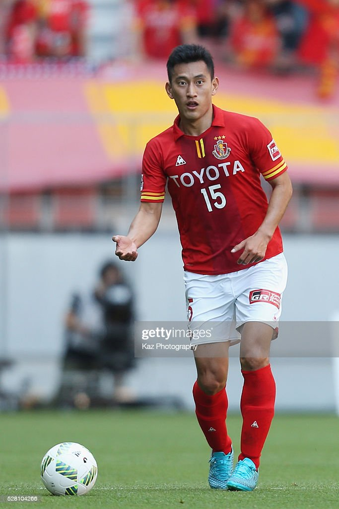 Lee Seung-hee of Nagoya Grampus in action during the J.League match between Nagoya Grampus and Yokohama F.Marinos at the Toyota Stadium on May 4, 2016 in Toyota, Aichi, Japan.