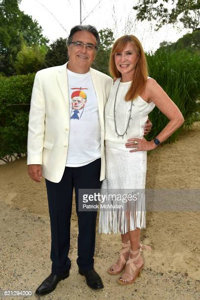 Lee Skolnick and Nicole Miller attend Boom The Cosmic LongHouse Benefit at LongHouse Reserve on July 22 2017 in East Hampton New York