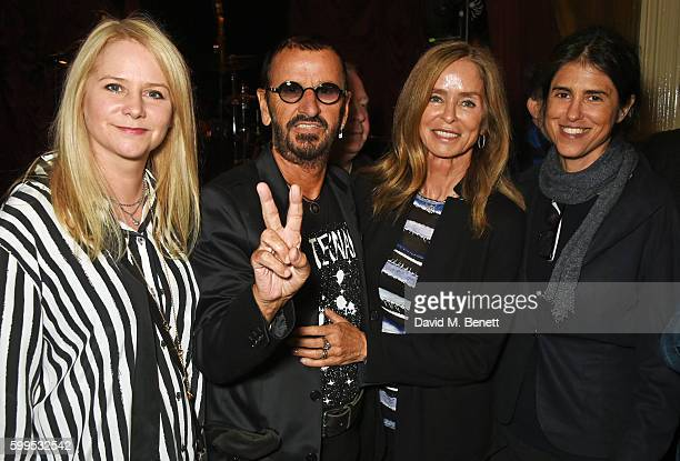 Lee Starkey Ringo Starr Barbara Bach and Francesca Gregorini attend the launch of 'Issues' a new album by SSHH in aid of Teenage Cancer Trust at The...