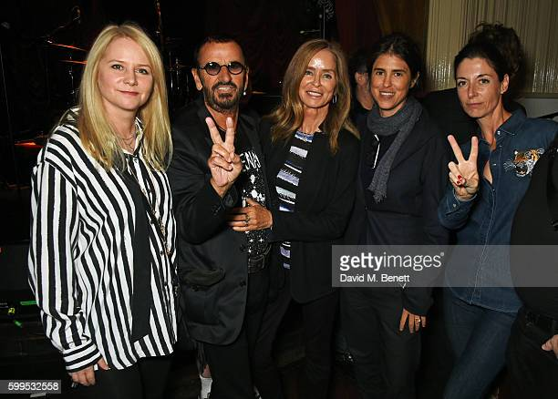 Lee Starkey Ringo Starr Barbara Bach Francesca Gregorini Mary McCartney and James McCartney attend the launch of 'Issues' a new album by SSHH in aid...