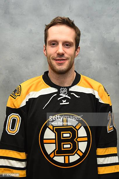 Lee Stempniak of the Boston Bruins poses for his headshot before the game against the Calgary Flames at the TD Garden on March 1 2016 in Boston...