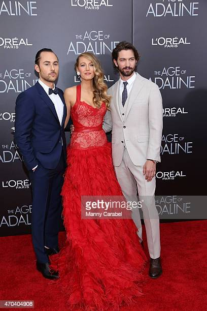 Lee Toland Krieger Blake Lively and Michiel Huisman attend 'The Age of Adaline' premiere at AMC Loews Lincoln Square 13 theater on April 19 2015 in...