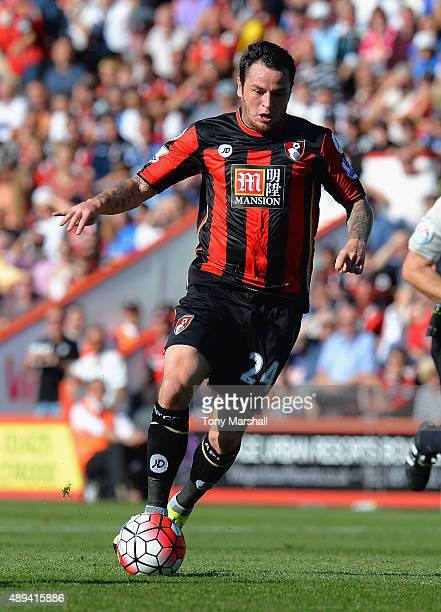 Lee Tomlin of AFC Bournemouth during the Barclays Premier League match between AFC Bournemouth and Sunderland at the Vitality Stadium on September 19...