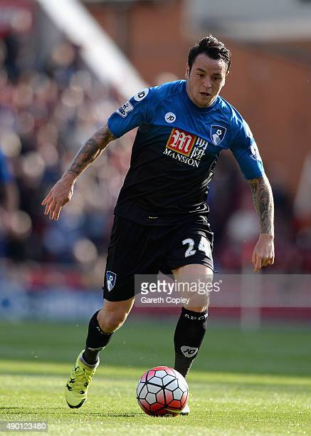 Lee Tomlin of Bournemouth during the Barclays Premier League match between Stoke City and Bournemouth on September 26 2015 in Stoke on Trent United...