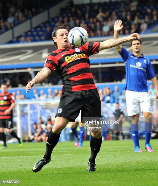 Lee Tomlin of Peterborough United in action during the npower Championship match between Birmingham City and Peterborough United at St Andrew's...