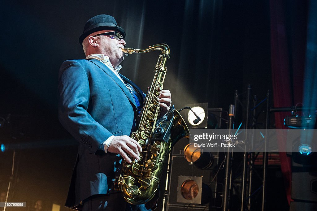 Lee Tompson from Madness performs at L'Olympia on September 16, 2013 in Paris, France.
