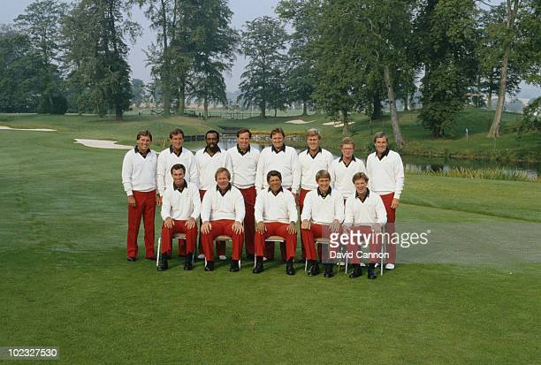 Lee Trevino Captain of the United States team with team members Lanny Wadkins Craig Stadler Raymond FloydTom Kite Peter Jacobsen Hal Sutton Andy...