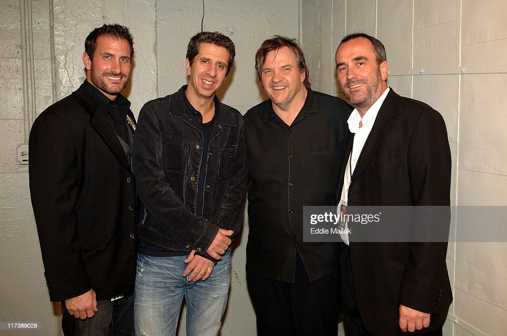 Lee Trink GM Virgin Records, Jason Flom Chairman CEO Virgin Records, Meat Loaf, David Munns Chairman CEO EMI North America