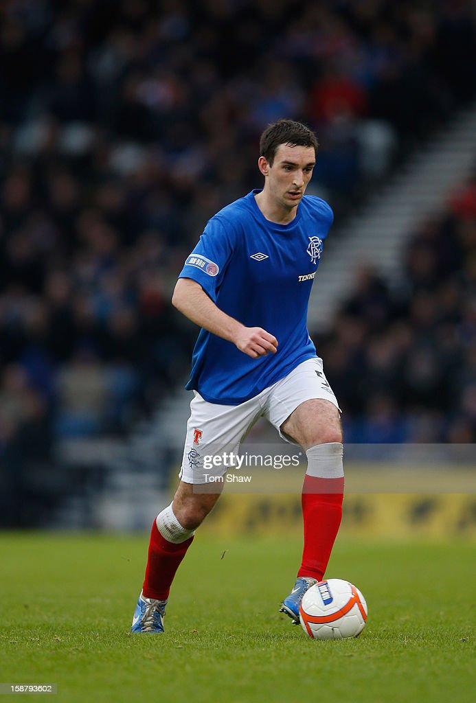 Lee Wallace of Rangers in action during the IRN-BRU Scottish Third Division match between Queens Park and Rangers at Hampden Park on December 29, 2012 in Glasgow, Scotland.