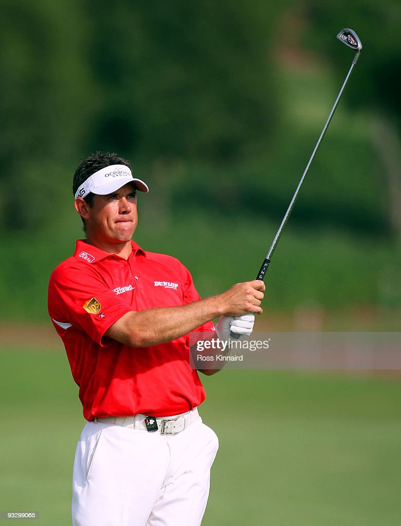Lee Westwood of England during the final round of the Dubai World Championship on the Earth Course Jumeriah Golf Estates on November 22 2009 in Dubai...