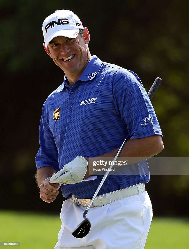 Lee Westwood of England during the final round of the Omega Dubai Desert Classic on February 3, 2013 in Dubai, United Arab Emirates.