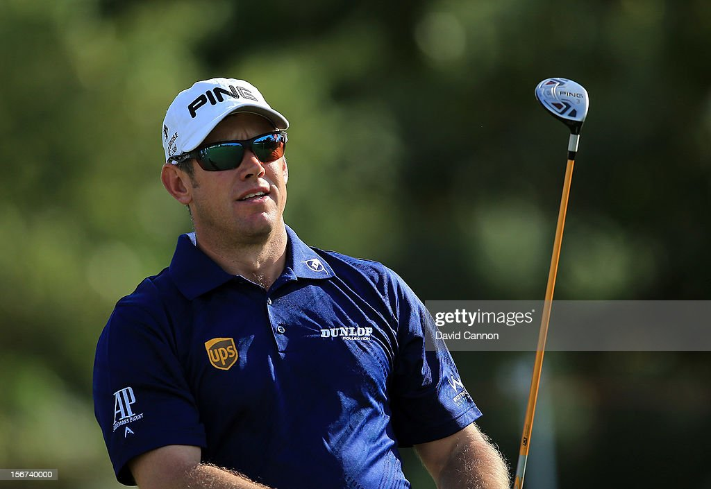<a gi-track='captionPersonalityLinkClicked' href=/galleries/search?phrase=Lee+Westwood&family=editorial&specificpeople=171611 ng-click='$event.stopPropagation()'>Lee Westwood</a> of England during the pro-am as a preview for the 2012 DP World Tour Championship on the Earth Course at Jumeirah Golf Estates on November 20, 2012 in Dubai, United Arab Emirates.