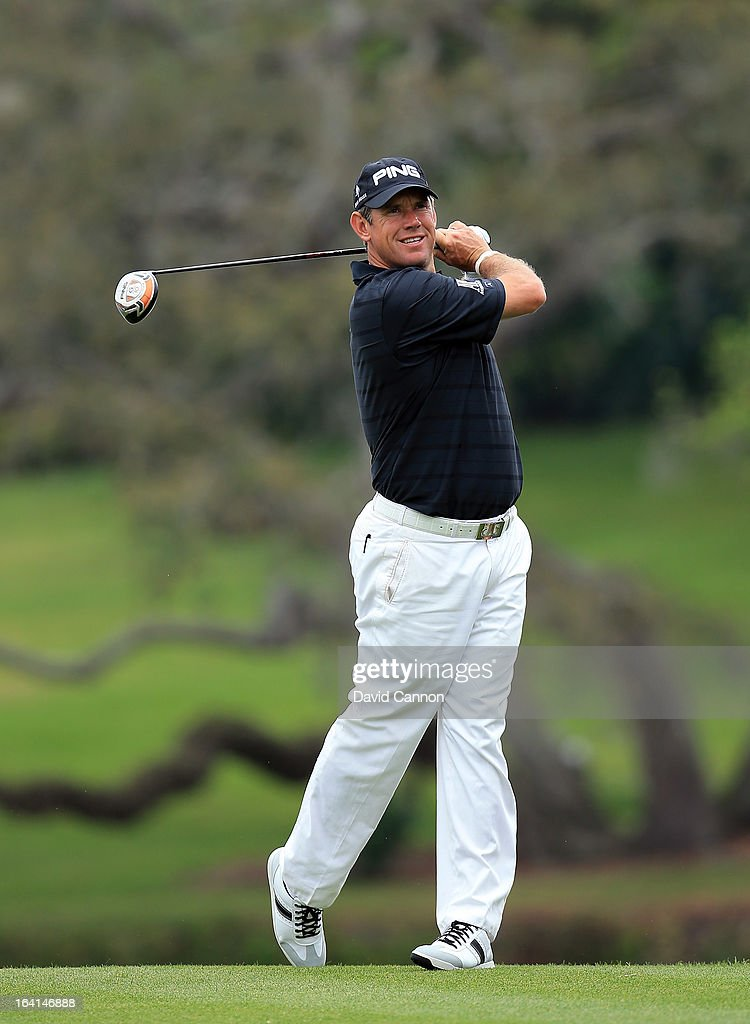 <a gi-track='captionPersonalityLinkClicked' href=/galleries/search?phrase=Lee+Westwood&family=editorial&specificpeople=171611 ng-click='$event.stopPropagation()'>Lee Westwood</a> of England during the pro-am for the 2013 Arnold Palmer Invitational Presented by Mastercard at Bay Hill Golf and Country Club on March 20, 2013 in Orlando, Florida.