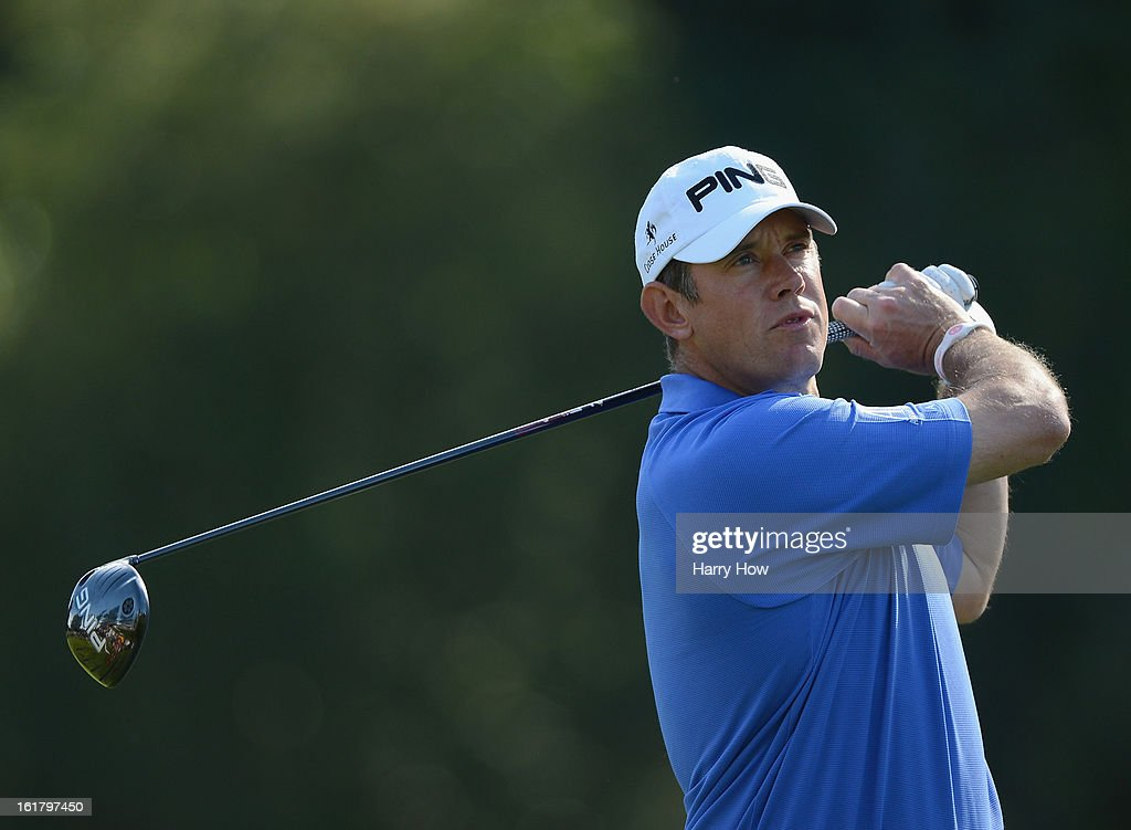 Lee Westwood of England his driver on the second hole during the third round of the Northern Trust Open at the Riviera Country Club on February 16, 2013 in Pacific Palisades, California.
