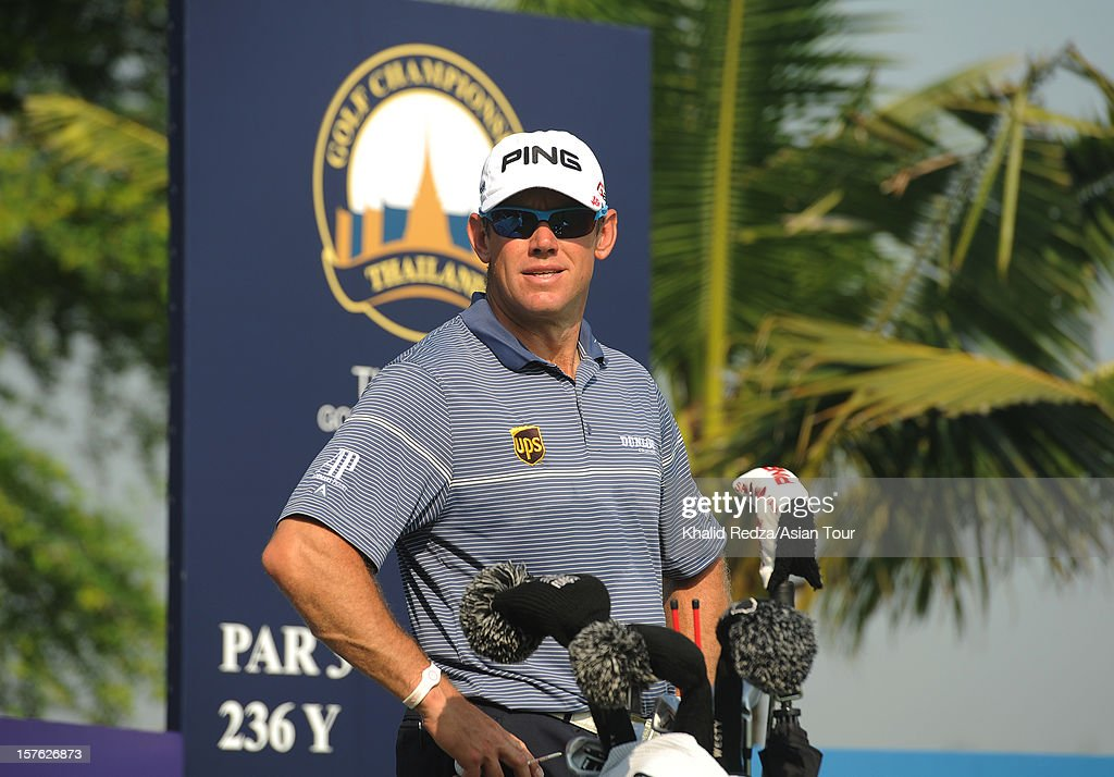 <a gi-track='captionPersonalityLinkClicked' href=/galleries/search?phrase=Lee+Westwood&family=editorial&specificpeople=171611 ng-click='$event.stopPropagation()'>Lee Westwood</a> of England in action ahead of the Thailand Golf Championship at Amata Spring Country Club on December 5, 2012 in Bangkok, Thailand.