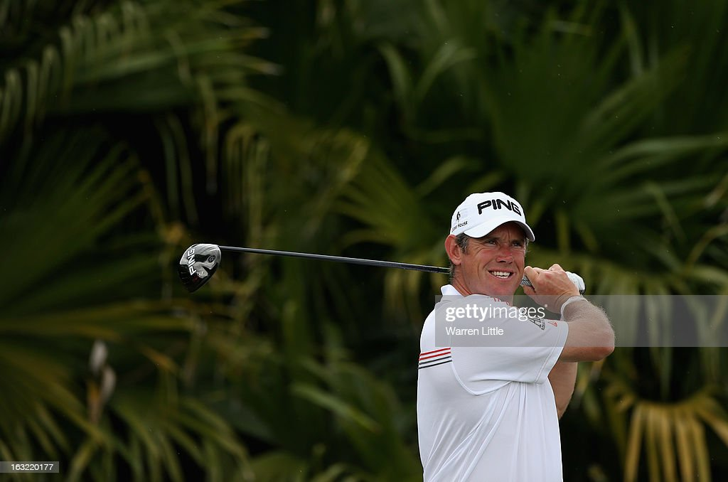 Lee Westwood of England in action during a practice round ahead of the WGC - Cadillac Championship at the Doral Golf Resort & Spa on March 6, 2013 in Miami, Florida.
