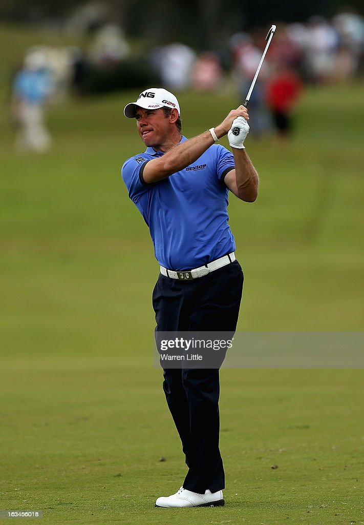Lee Westwood of England in action during the final round of the WGC - Cadillac Championship at the Trump Doral Golf Resort & Spa on March 10, 2013 in Doral, Florida.