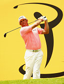 Lee Westwood of England in action during the second round of the 2015 Maybank Malaysian Open at Kuala Lumpur Golf Country Club on February 6 2015 in...