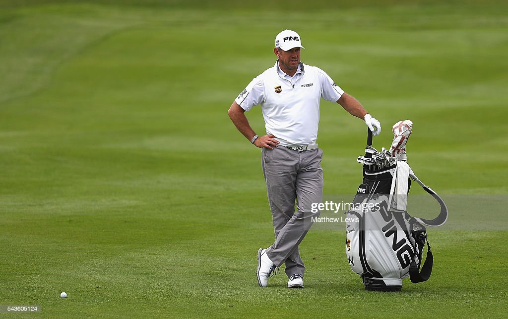 <a gi-track='captionPersonalityLinkClicked' href=/galleries/search?phrase=Lee+Westwood&family=editorial&specificpeople=171611 ng-click='$event.stopPropagation()'>Lee Westwood</a> of England looks on during a pro-am round ahead of the 100th Open de France at Le Golf National on June 29, 2016 in Paris, France.