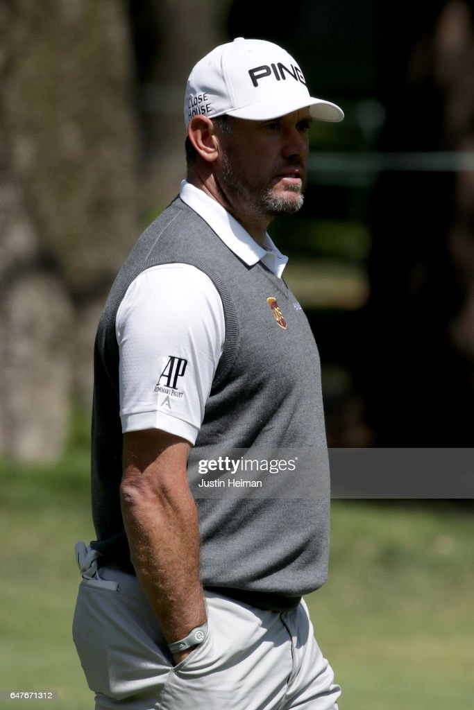Lee Westwood of England looks on from on the second hole during the second round of the World Golf Championships Mexico Championship at Club De Golf Chapultepec on March 3, 2017 in Mexico City, Mexico.